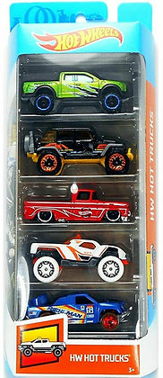 Hot Wheels Pack de 5 - Hot Trucks