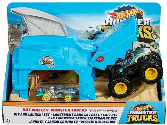 Hot Wheels Pista - Monster Truck Lancador Team Shark Wreak