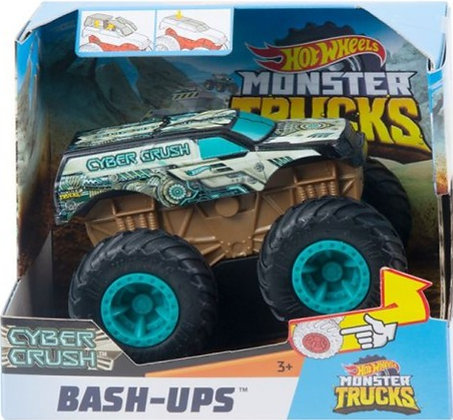 Hot Wheels Monster Trucks - Cyber Crush (Bash-Ups) escala 1/43