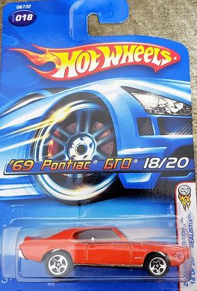 Hot Wheels Realistix First Editions - '69 Pontiac GTO