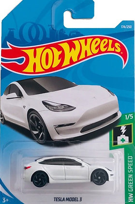 Hot Wheels Green Speed - Tesla Model 3