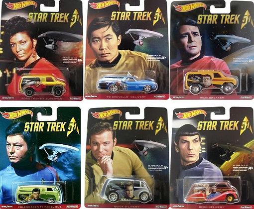 Hot Wheels Pop Culture - Star Trek Set Completo (5 minis)