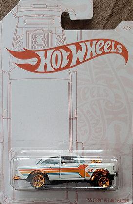 Hot Wheels Pearl & Chrome - '55 Chevy Bel Air Gasser