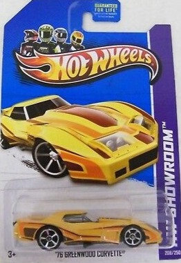 Hot Wheels Showroom - '76 Greenwood Corvette
