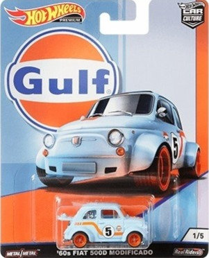 Hot Wheels Car Culture - Gulf '60s FIAT 500D Modificado