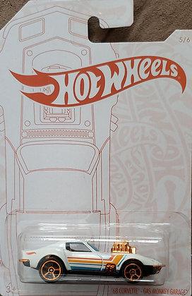 Hot Wheels Pearl & Chrome - '68 Corvette - Gas Monkey Garage