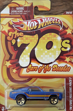Hot Wheels Cars of the Decades - '70 Ford Mustang Mach 1