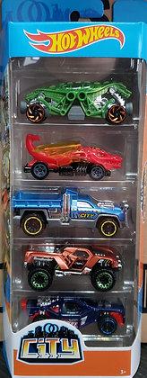 Hot Wheels Pack de 5 - City