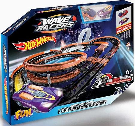 Hot Wheels Pista - Waver Racers Double Track Set Epic Challenge Speedway