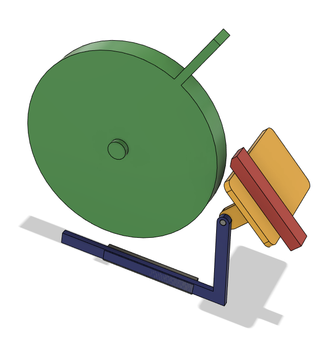 A screenshot of a 3D model of a grinder wheel and tool rest.