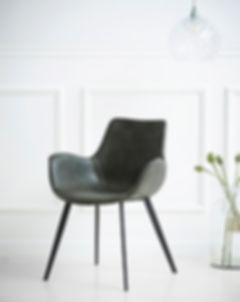HYPE CHAIR W. ARM vintage grey art. leat