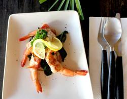 Wrapped shrimps