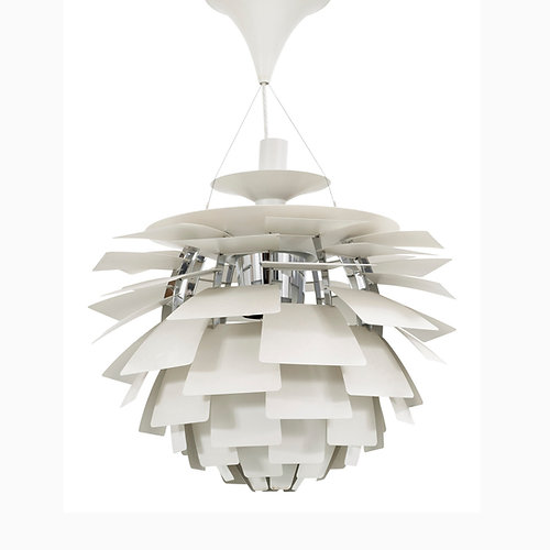 Artichoke Lamp (White)   Poul Henningsen   Replica