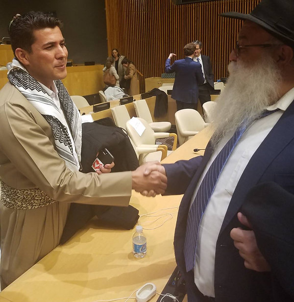 General Kurd, and R. Mikhael Cohen director of Beth chabad Francais & Francophone CCF New York