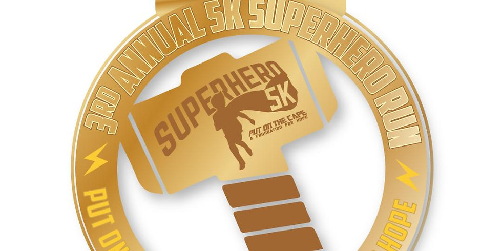The 3rd Superhero 5k sponsored by Gammage & Burnham Attorneys at Law