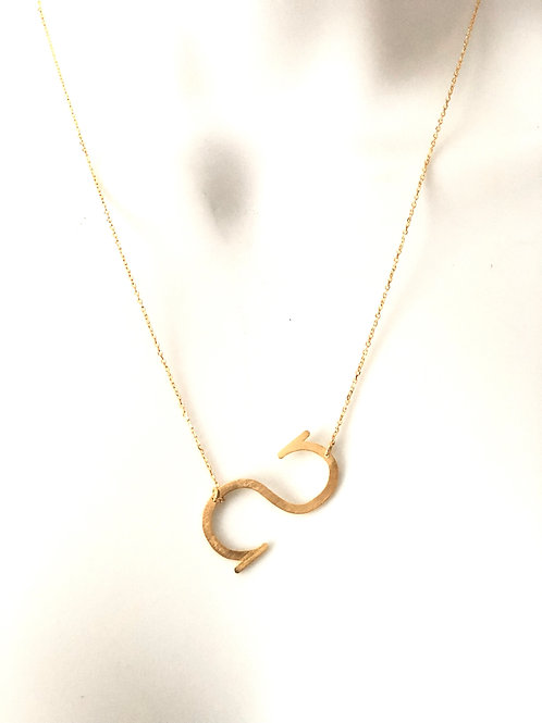 Sunshine|Initial Letter Necklace