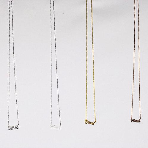 Essence Script Necklace