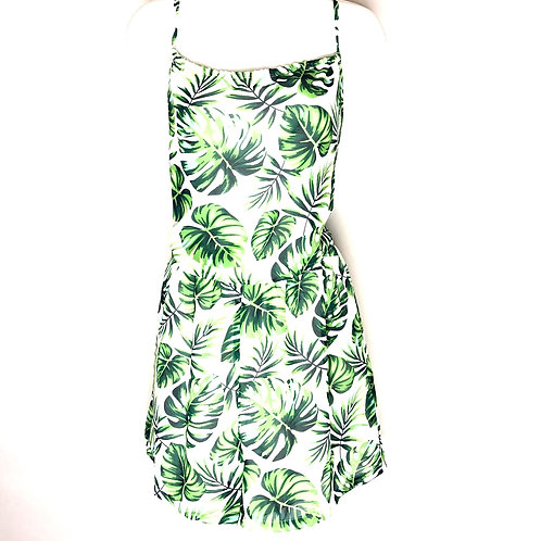 Green Palm Leaf Romper