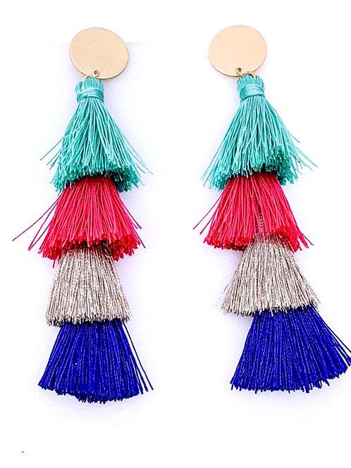 Tassel Drop Post Earrings