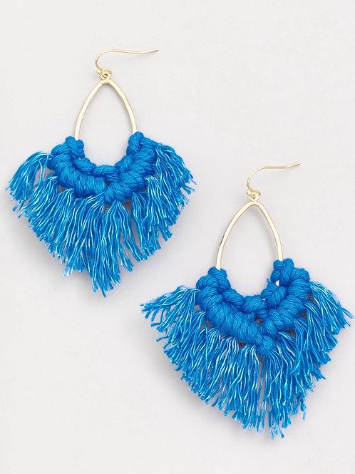 Oval Tassel Fringe Earrings