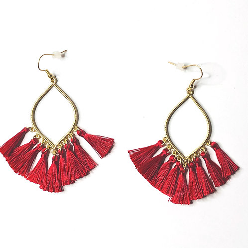 Marquis Tassel Earrings