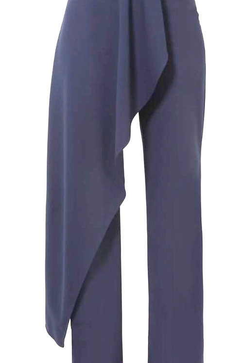 Front Overlay High Waist Pants