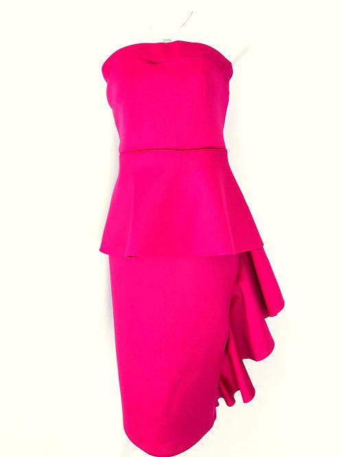 Cassie| Ruffle Bodycon Strapless Dress