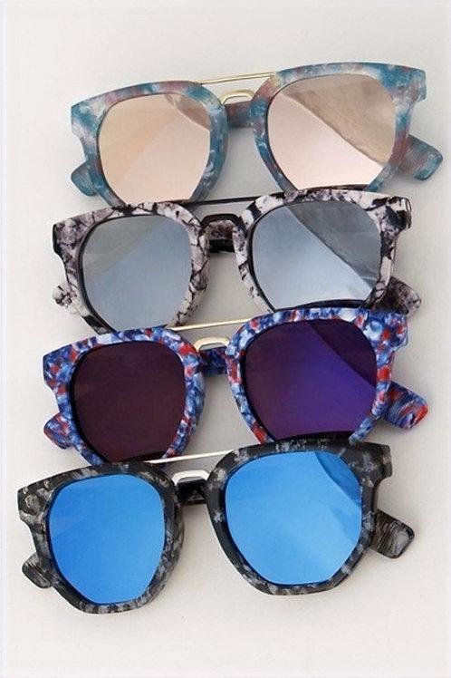 Print Frame Sunglasses