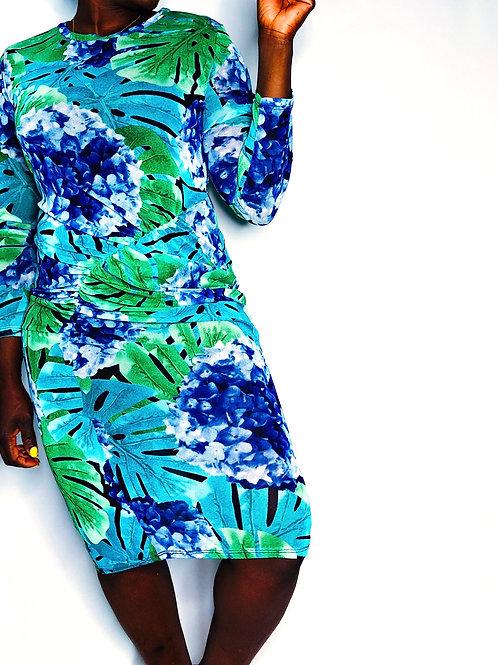 Garden Breeze|Floral Sheer Midi Dress