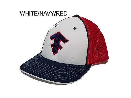 Pacific Headwear Trucker Mesh White Front and Tri Colors 404M