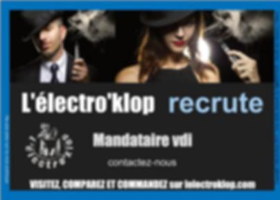 lelectroklop recrute en hôte(esse) commercial(e) en vdi et reunion à domicile
