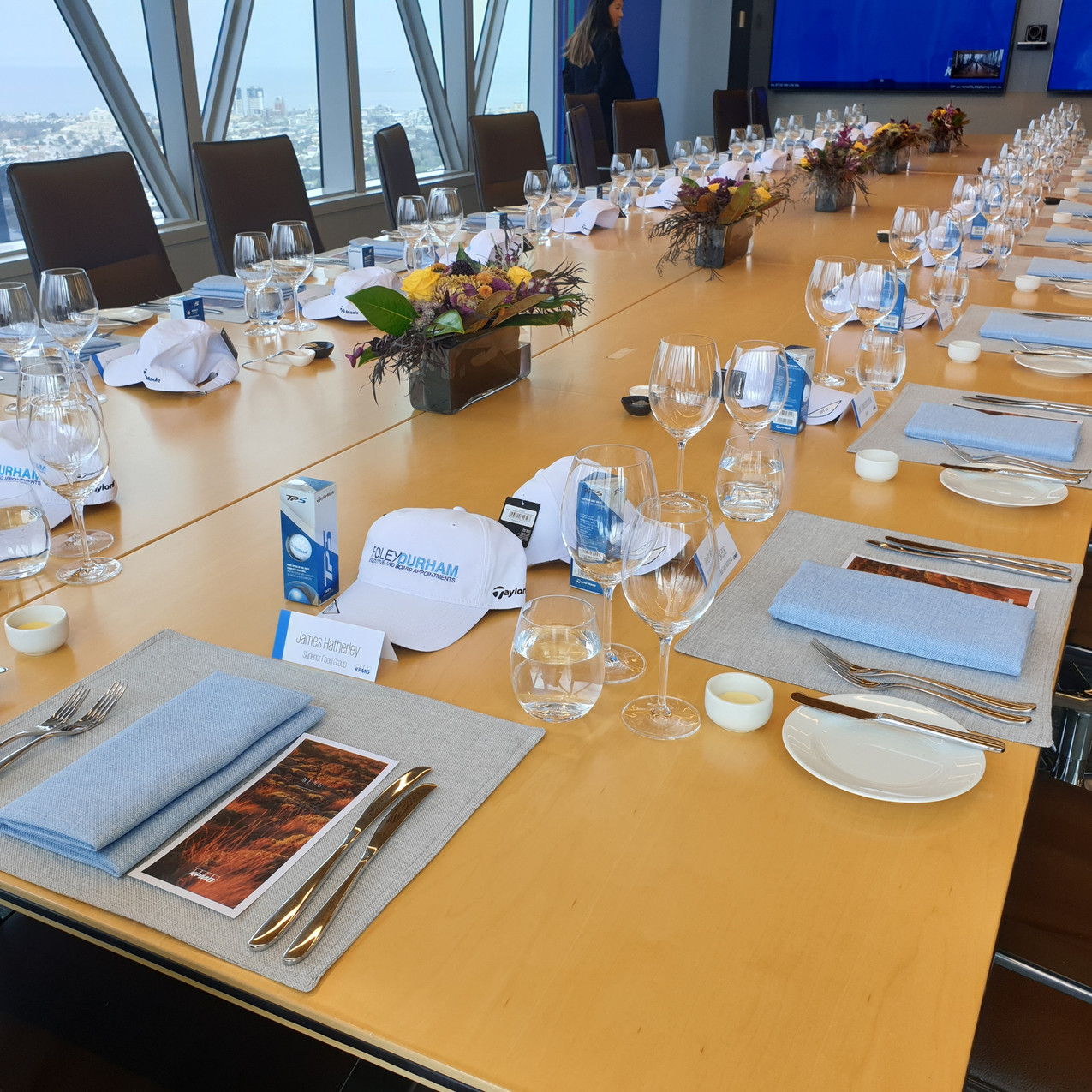 190913 KPMG Lunch - set up