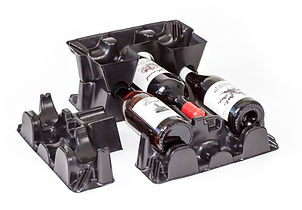 Recycled Plastic Wine Bottle Packaging Eco Friendly