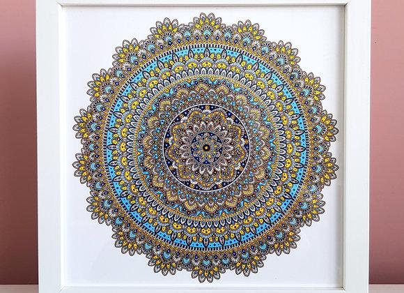 "Limited Edition ""Happy Mandala"" Framed Print"
