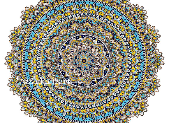 "Limited Edition ""Happy Mandala"" Giclée Print"