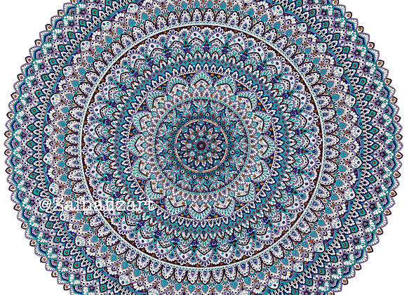 Limited Edition Blue Topaz Giclée Print