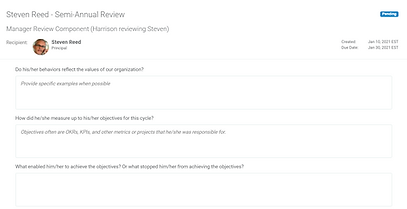 simple performance review