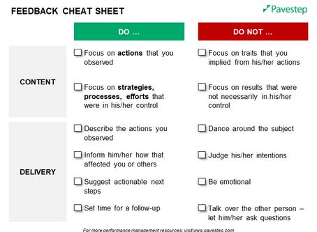Feedback Cheat Sheet