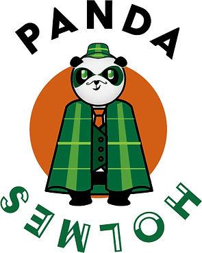 Panda habille en Sherlock Holmes