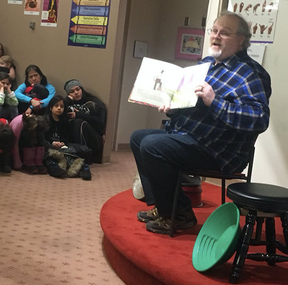 Reading at the Loussac Library