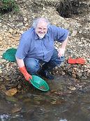 Matthew Lasley panning at Pedro Creek.