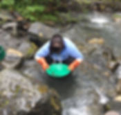 Adi panning for gold