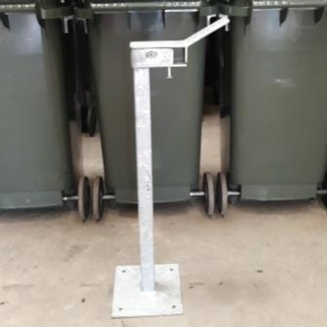 Single 120L wheelie bin security stand