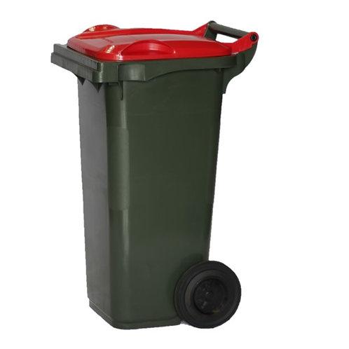 Australian Made MGB 80L red lid Wheelie bin for rubbish