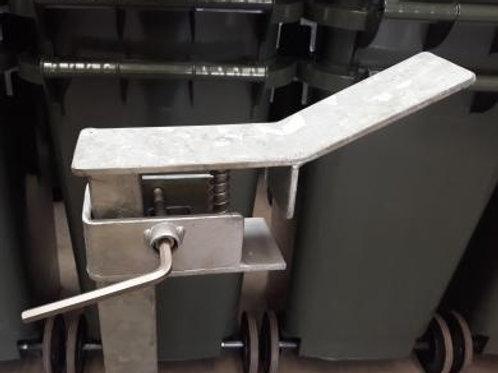 Single 240L wheelie bin security post or base
