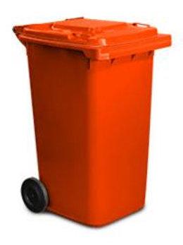 Australian Made MGB bin -Orange wheelie bin with orange lid
