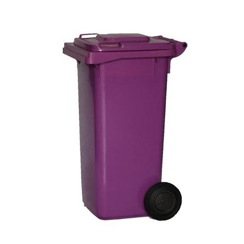 Australian Made MGB 120L Purple Cytotoxic waste wheelie bin