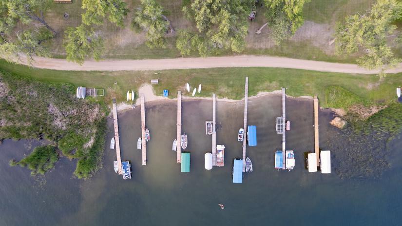 Aerial View of Docks