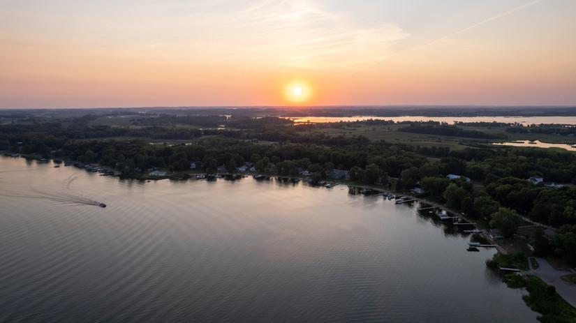 Aerial Sunset