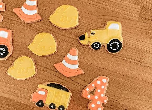 עוגיות בקונספט אתר בנייה